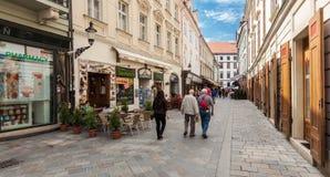 Free People In Sedlarska Street In Old Town, Bratislava, Slovakia Royalty Free Stock Photos - 31012168