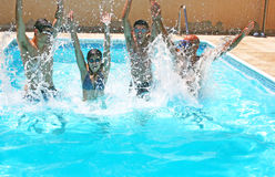People In Swimming Pool Royalty Free Stock Images
