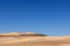 People In The Desert Stock Photography