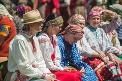 People In Traditional Dresses Stock Photography