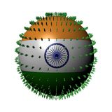 People on India flag sphere Royalty Free Stock Images
