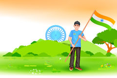 People with Indian flag Royalty Free Stock Photos
