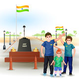 People with Indian flag Stock Photography