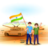 People with Indian flag Royalty Free Stock Image