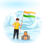 People with Indian flag Royalty Free Stock Images