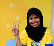 People from Indonesia,  Muslim girls Stock Images