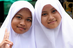 People from Indonesia,  Muslim girls Stock Image