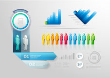 People Infographic Design Template Royalty Free Stock Photography