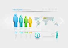 People infographic design template Royalty Free Stock Image