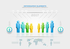 People infographic design template Stock Images