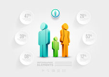 People infographic design template Royalty Free Stock Photo