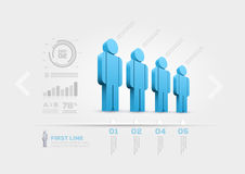 People infographic design template Stock Photography