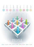 People information cubes Stock Image