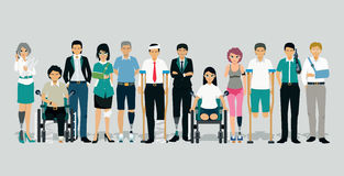 People injured and disabled Royalty Free Stock Images