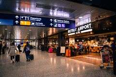 People Inside Airport royalty free stock image