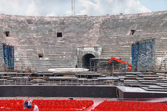 People inside Arena Verona, Italy Stock Photography