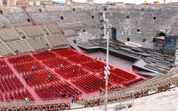 People inside Arena Verona - the place of annual festival operas Stock Photo