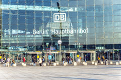 People inside the Berlin Central Station Royalty Free Stock Photography