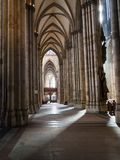 People inside of Cologne Cathedral royalty free stock photo