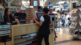 People inside gift shop Stock Image