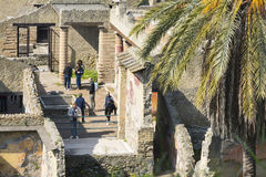 People inside Herculaneum Royalty Free Stock Photo