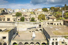People inside Herculaneum Stock Photos