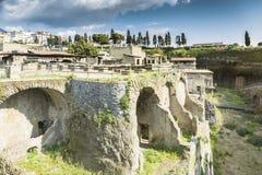 People inside Herculaneum Royalty Free Stock Image