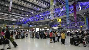 People inside international airport in Bangkok, Thailand Royalty Free Stock Photos