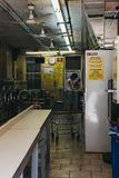 People inside laundromat in New York, USA stock image
