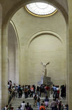 People inside the Louvre Museum Stock Photo