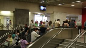 People inside Syntagma metro station stock video footage