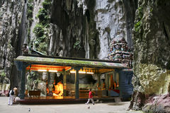 People inside temple batu caves  Kuala Lumpur Royalty Free Stock Photo