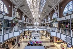 Victoria and Albert Waterfront shopping mall interior royalty free stock images