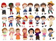 People and international costume. Illustration stock illustration