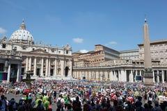 People are on international pilgrimage Stock Photo