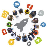 People with Internet and Technology Concepts Royalty Free Stock Photography