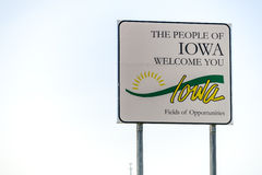 The people of Iowa welcome you Sign Royalty Free Stock Photography