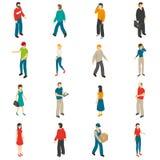 People Isometric Icons Set Stock Photo