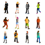 People Isometric Icons Set. With men and women in business and sport isolated illustration vector illustration