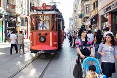 People at Istiklal Street Stock Photos