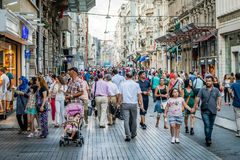 People on Istiklal street in Istanbul, Turkey Stock Photography
