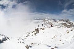 People in Italian Dolomites Royalty Free Stock Image