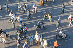 People on Djemaa el Fna in Marrakesh, Morocco Stock Photography