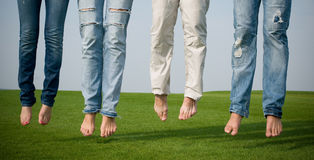 People with jeans Royalty Free Stock Image