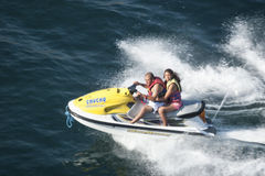 People on jet ski Royalty Free Stock Images