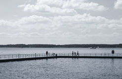 People on a jetty Stock Photos