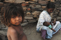 People of the Jharia coalmines area in India Royalty Free Stock Photo
