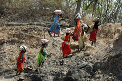 People of the Jharia coalmines area in India Royalty Free Stock Photography