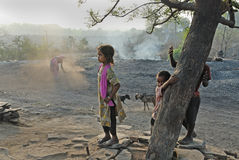 People of the Jharia coalmines area in India