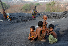 People of the Jharia coalmines area in India Royalty Free Stock Photos